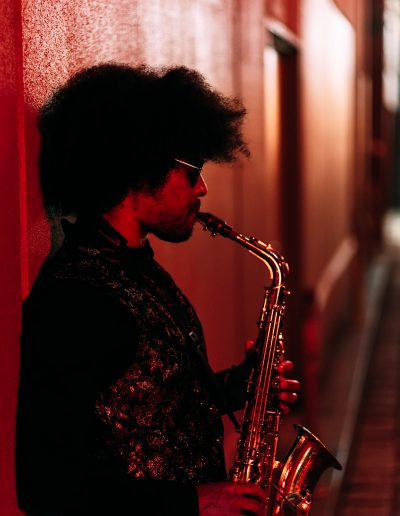 Afro saxophonist
