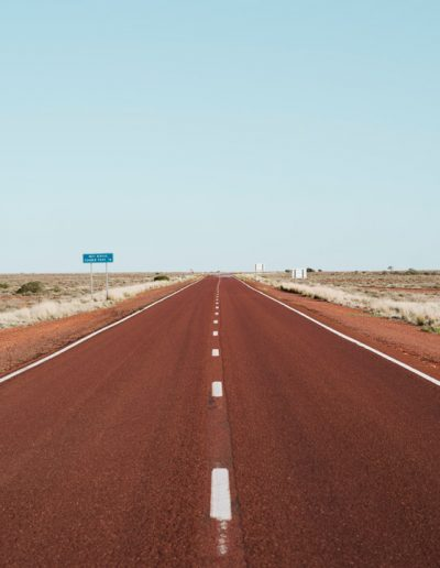 Australian red color road