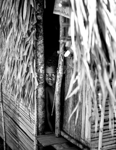 Indigenous Malaysian in a shed